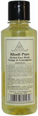 Khadi Pure Herbal Orange and Lemongrass Face Wash 210ml