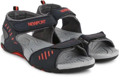 Newport Men Grey/Red Sports Sandals