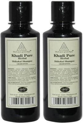 Khadi Pure Herbal Shikakai Shampoo(420 ml)