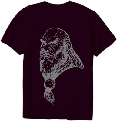 Mefunky Printed Men Round Neck Purple T-Shirt Flipkart