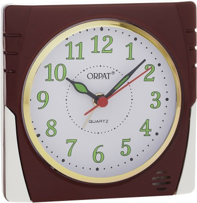 Orpat Analog Brown Clock available at Flipkart for Rs.379
