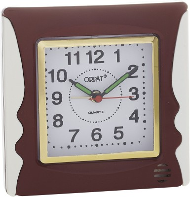 Orpat Analog Brown Clock available at Flipkart for Rs.399