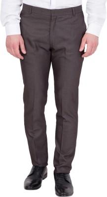 John Hupper Regular Fit Men's Brown Trousers