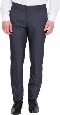 John Hupper Regular Fit Men's Black Trousers