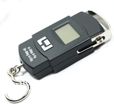 vepson 50kg Mini Portable LCD Electronic Digital Hanging Luggage Weighing Scale(Black)  available at flipkart for Rs.275