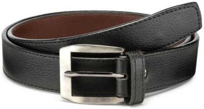 OODI Men Casual Black Artificial Leather Belt