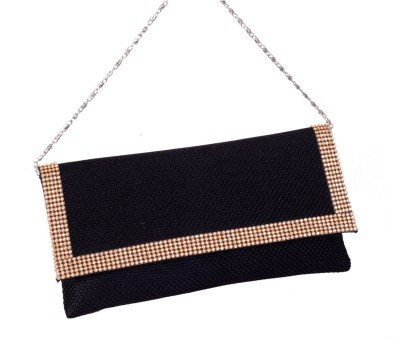 Pretty Krafts Party Black  Clutch at flipkart