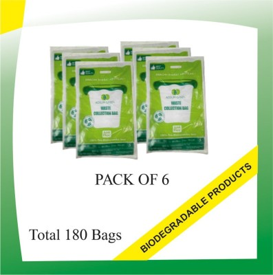 Shalimar Virgin (180 Bags) Small 20-25 L Garbage Bag(Pack of 6)