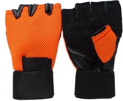 Manthan Men Gloves Gym   Fitness Gloves Orange