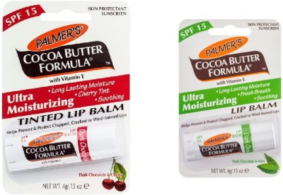 Palmer's Ultra Moisturizing Lip Balm Set of 2 Dark Chocolate & Peppermint, Dark Chocolate & Cherry(4 g)  available at flipkart for Rs.259