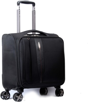 Vision Overnighter Laptop Trolley Small Travel Bag   20 Black