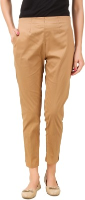 Q-Rious Regular Fit Women Brown Trousers