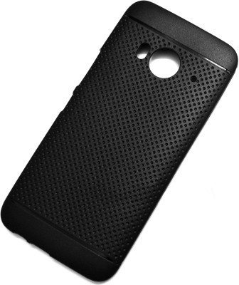 VAKIBO Back Cover for HTC one me(Matte Black Dotted, Grip Case, Silicon, Rubber)
