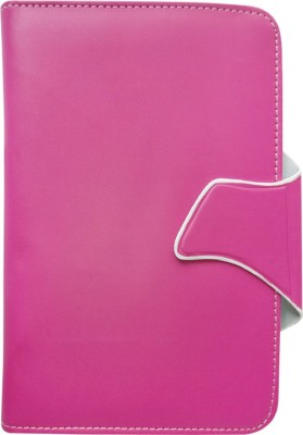 Fastway Flip Cover for Spice Tab Mi-720(White, Pink)