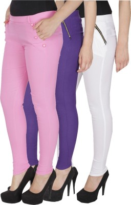 Rzlecort Multicolor Jegging Solid Rzlecort Women's Jeggings