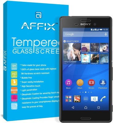 Affix Tempered Glass Guard for Sony Xperia M4 Aqua Dual(Pack of 1)
