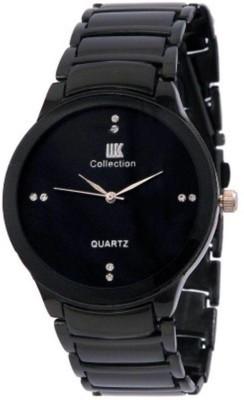 IIK IIK1 IIK MEN BLACK STRAP BLACK DIAL FANCY WATCH Watch  - For Men   Watches  (IIK)