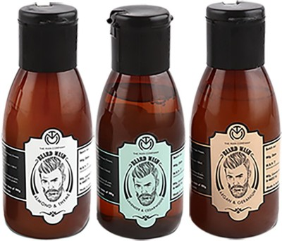 The Man Company Premium Beard Wash Combo (Set of 3) - Almond & Thyme (100ml), Lavender & Cedarwood (100ml), Argan & Geranium (100ml)(Set of 3)
