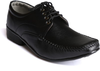 Xtreme Mens Black Formal Shoes Lace Up For Men(Black)  available at flipkart for Rs.349