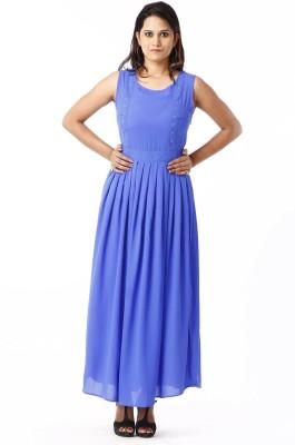 RIVI Women Maxi Blue Dress