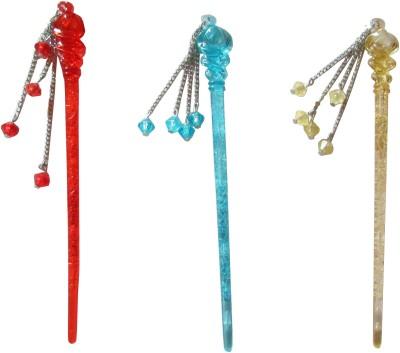 Style Tweak combo of juda sticks Bun Stick(Multicolor)