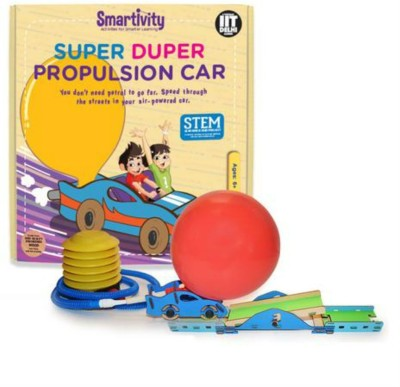 Smartivity Super Duper Propulsion Car-Science Experiment Kit-DIY School  Project-Educational games & Learning Toys-Gift 6 7 8 9 yr olds(Multicolor)