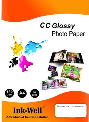 VMS Deluxe Colour High Glossy Inkjet Photo Paper A4 (210 x 297 mm) 150 GSM Unruled  A4 Inkjet Paper(Set of 2, White)