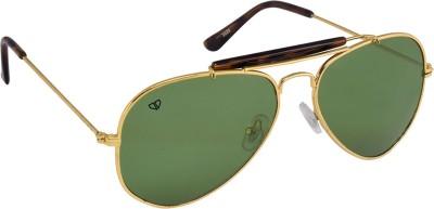 Walrus Aviator Sunglasses(Green) at flipkart