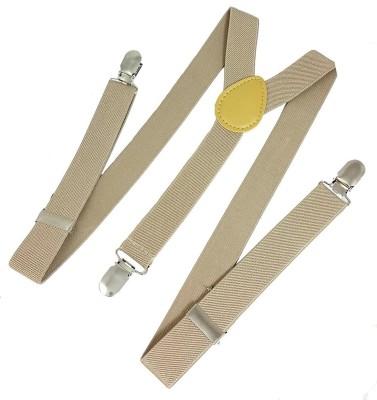 ZACHARIAS Y  Back Suspenders for Men, Boys, Girls Beige