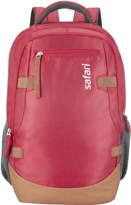 Safari Brisk 40 L Medium Laptop Backpack   Red, Tan  Safari Backpacks