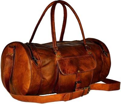Anshika International  Expandable  genuine leather 24 inch vintage unisex duffle travel bag Duffel Without Wheels Anshika International Duffel Bags