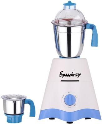 Speedway MG17-TA-STR-242 600 W Mixer Grinder(White, Blue, 2 Jars)