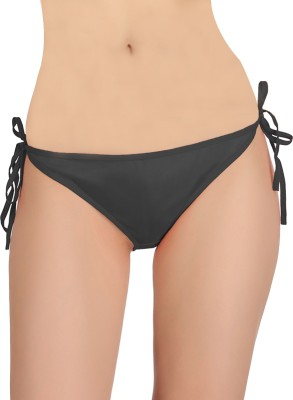 Fashion Comfortz Women Thong Black Panty(Pack of 1) at flipkart