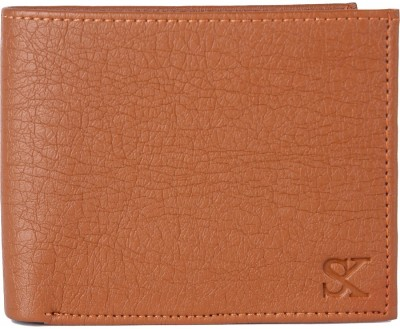 Styler King Men Tan Artificial Leather Wallet 6 Card Slots