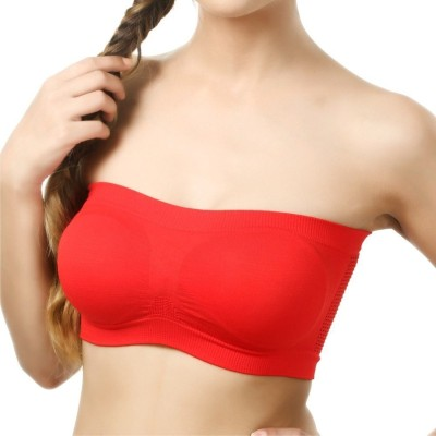 d355cac49cdf5 View prachi by prachi Women Tube Non Padded Bra(Red) Price Online