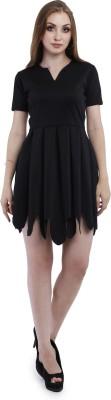 Addyvero Women Layered Black Dress
