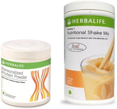 Herbalife formula 1 Shake - 500g (Orange Cream) with Personalized Protein Powder - 200g Protein Blends(700 g, Orange)