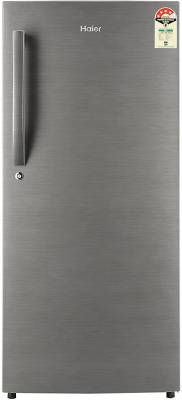 Haier 195 L Direct Cool Single Door 4 Star Refrigerator  (Brushline Silver, HRD-1954BS-R/E)