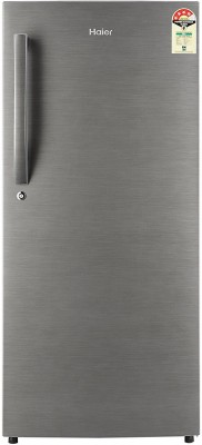 Haier 195 L Direct Cool Single Door 4 Star Refrigerator(Brushline Silver, HRD - 1954BS-R/E // 1954CBS-E)
