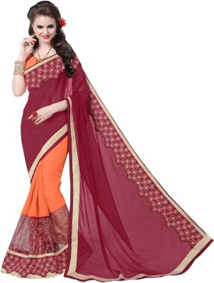 UJJWAL CREATION Embroidered Fashion Georgette Saree(Multicolor)