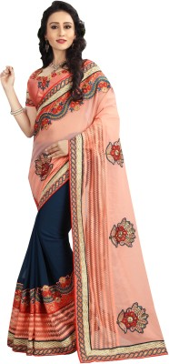 UJJWAL CREATION Embroidered Fashion Georgette Saree(Multicolor) Flipkart
