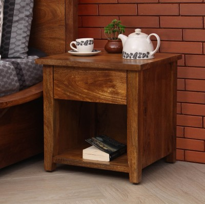 Peachtree Solid Wood Bedside Table(Finish Color - Natural)