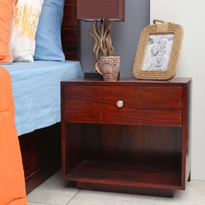 peachtree Solid Wood Bedside Table(Finish Color - Honey)