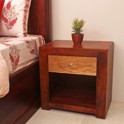 Peachtree Solid Wood Bedside Table(Finish Color - Walnut)