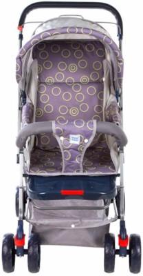 MeeMee Baby Pram Pram(3, Grey, Purple)