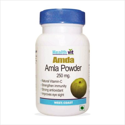 Healthvit Amda Amla Powder 250mg Supplement (60 Capsules)