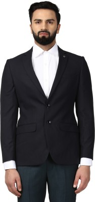 Raymond Solid Single Breasted Formal Men Blazer(Black) at flipkart