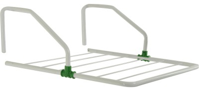Pull 'n' Dry Pull n Dry 2 FT Metal Parapet Grill Hanger Clothes Dryer Aluminium Wall Cloth Dryer Stand(White)  available at flipkart for Rs.650