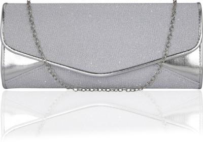 Kleio Party Silver  Clutch Flipkart