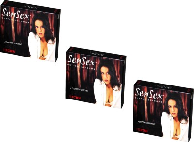 Hicks SenSex condom Dotted condom 3 pcs per pack condom(Set of 3, 3S)  available at flipkart for Rs.66
